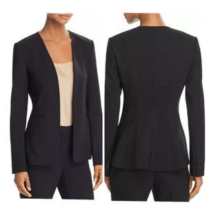 Theory Isita Classic Suit Wool Blazer in Black